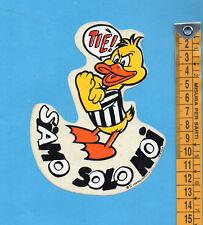 ADESIVO/STICKER (59)- PAPEROTTO JUVE SIAMO SOLO NOI TIE'! - vintage - cm.10X13