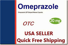 Omeprazole 20mg OTC GERD Acid Reflux Heartburn 250 Caps Pack Free Shipping