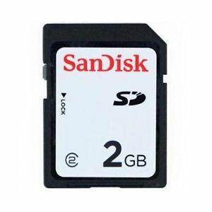 2GB SanDisk SD Memory Card SDSDB-002G-B35 Standard Black Secure Digital Genuine