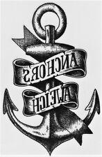 Anker Anchors Meer See Temporary Temporäre Klebe Tattoo  5,5 x 10,5 cm X258