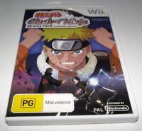 Naruto Clash of Ninja Revolution Nintendo Wii PAL *Complete* Wii U Compatible