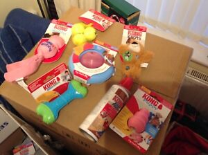 Kong  PUPPY Dog Toys Large Bundle. PINK NEW 7 Items