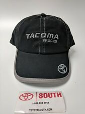 NEW TOYOTA TACOMA TRD TRUCKS HAT CAP BLACK EMBROIDERED GRAY LOGOS ADULT SIZE