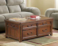 Signature Design by Ashley Furniture Woodboro Lift Top Coffee Table End Drawers