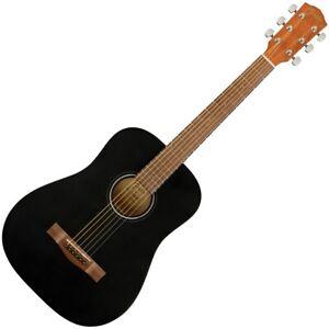 Fender FA-15 3/4 Steel Black Chitarra Acustica Corde in Acciaio con Borsa