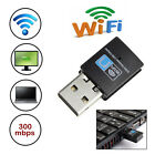 300Mbps Mini Wireless USB Wi-fi Wlan Adapter 802.11 b/g/n Network LAN Dongle LED