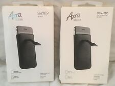 2x AZRA GUANTO LEATHER CASES FOR THE APPLE IPHONE 4/4S BLACK!! BRAND N