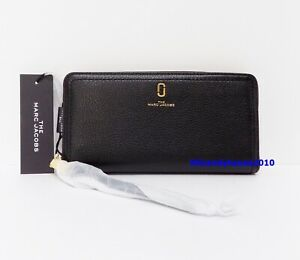 NWT Marc Jacobs The Softshot Standard Leather Continental Wallet ~ Black