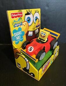 2012 SpongeBob SquarePants SHAKE 'N GO Fisher Price Race Car Nickelodeon X4088