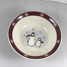 Royal Seasons Christmas Snowman Cereal Bowl Snowflake