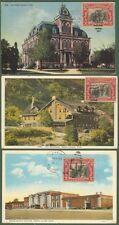 U.S.A. (Stati Uniti). Tre cartoline illustrate del 1929 per l'Italia.