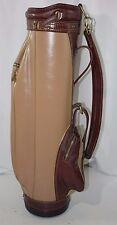 Vintage Old School Hot-Z Leather Cart Golf Bag Brown