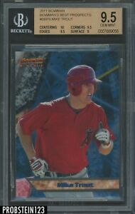 """2011 Bowman's Best Mike Trout Angels RC Rookie BGS 9.5 w/ 10 """" HIGH END """""""