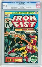 Iron Fist #1 CGC 9.4 1975 Iron Man Cover! WHITE pages! Key Bronze Age! G5 706 cm