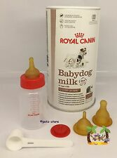 Royal Canin 400g Puppy Milk & feeding bottle set with teats with scoop Whelping