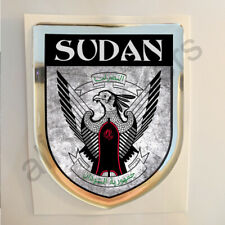 Sudan Sticker Coat of Arms Resin Domed Stickers Adhesive Flag Grunge 3D Car