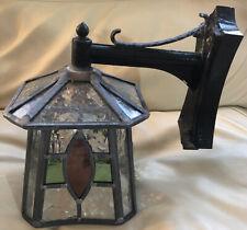 Outdoor Lighting Stain Glass Wall Lantern Lamp.
