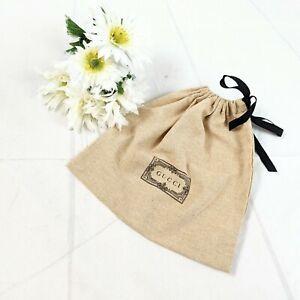 Gucci 2021 Tan & Black Textured Eco Linen Like Dust Bag