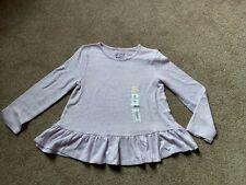 NWT Toddler Girls Jumping Beans Long Sleeve Knit Peplum Top - Light Purple - 5T