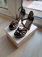 Women's Black Patent Leather Jimmy Choo Shoes High Heels Size UK 4