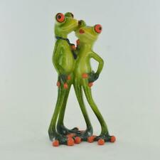 More details for comical frogs couple kissing figurine home ornament figure gift
