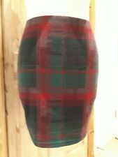 New Look Tartan Mini Plaid Skirt Size 10  Check Pink  Red Teal Blue Emo Goth