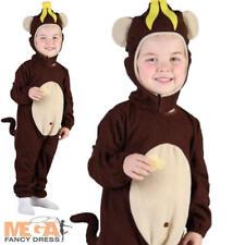 Monkey Toddler 2-3 Fancy Dress Kids Animal Boys Girls Child Dress Up Costume New