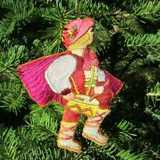 "Little Drummer Boy Shimmery Brocade Fabric Tapestry Christmas Ornament 5""x4"""