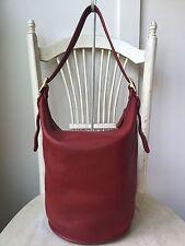 Vtg COACH Red Extra Large Bucket Duffle Feed Bag Handbag Purse 9085 Costa Rica
