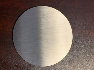 Stainless Steel 316 Brushed DP1 Satin. Laser cut disc/blank. 2mm thick circle