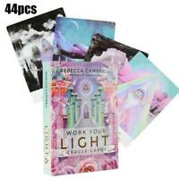Work Your Light Oracle Cards Tarot Deck 44 Cards Divination Prophet Cards Gifts