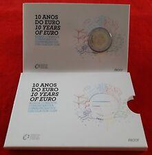 PORTUGAL 2012 2 EUROS CARTERA OFICIAL PROOF 10 AÑOS DEL EURO TYE. COINCARD PP