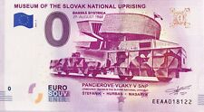 BILLET 0 ZERO EURO SCHEIN SOUVENIR MUSEUM OF THE SLOVAK NATIONAL UPRISING 2018