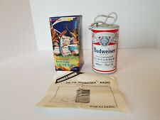 New! Vintage 1980's BUDWEISER Beer Can AM/FM Transistor Radio Radio Shack 12-902