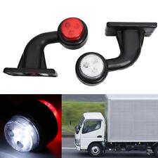 2X Led Side Marker Lights Indicator Rubbers Lamp Trailer Truck 12V Outline UK