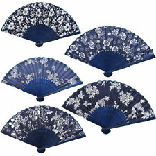 Folding Hand Fan Classic Fans Chinese Fans Fabric Floral Dance Favor Pocket Fan