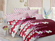 Valtellina Pure Cotton 1 King Size Bedsheet with 2 pillow Covers -TR_LV-07