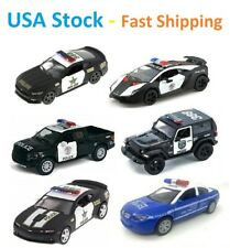 Police Car, Chevy, Ford Pickup, Mustang, Lamborghini, Jeep, NYPD, Toy Car, 5''