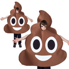 Funny Novelty Emoji Poop Poo Emoticon Kids Girls Boys Child Fancy Dress Costume