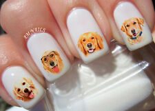Golden Retriever Nail Art Stickers Transfers Decals Set of 60