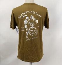 Obey Men's T-Shirt Reaper's Delight Dusty Tapenade Size L NWT Shepard Fairey
