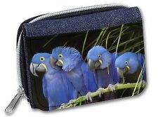 Hyacinth Macaw Parrots Girls/Ladies Denim Purse Wallet Christmas Gift , AB-PA1JW