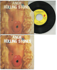 ROLLING STONES 2 track pic sleeve 45 ANGIE Silver Train Belgium France