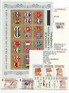 ER10249/ HONDURAS – AIRMAIL – 1976 / 1983 MINT MNH MODERN SELECTION