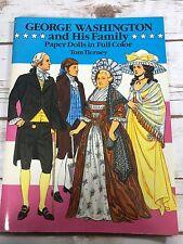 George Washington His Family Paper Dolls Dover Uncut Tom Tierney 1989 Vintage