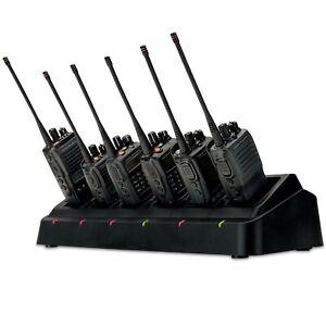 Motorola Vertex Standard 6-Way Charger VX-261 EVX-261 VX-456 VX-451 EVX-531