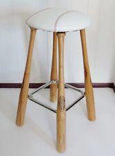 Original Grand Slam Slugger Vinyl Seat Baseball Bat Sports Chrome Step Bar Stool