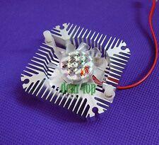 5pcs 10W High Power LED Silver Aluminum Heatsink with fan light Cooling Cooler