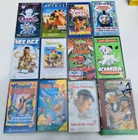 Bulk Lot 12 Kids Vhs Videos Family Tapes
