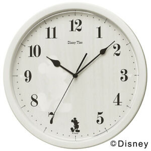 SEIKO Wall Clock Disney Time FW577A Analog Mickey mouse Ivory Japan FS